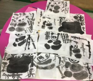 Our first culture lesson-Chinese painting