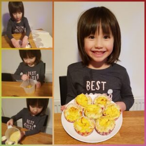 Josephine  (4 years)- Portuguese egg tart