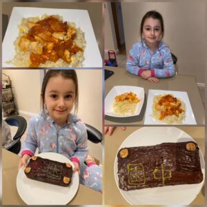 Everly (7)- Egg fried rice, sweet and sour chicken and cake