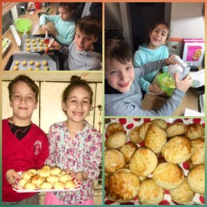 Adrian (10) and Vicky (7)- Pineapple tarts