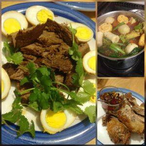 田敏 (parent)-烤鸭,卤牛肉&卤蛋, 火锅
